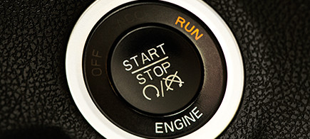 Engine start button of a car.