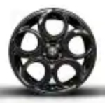18-Inch Front, 19-Inch Rear Dark 5-Hole Aluminum Wheels