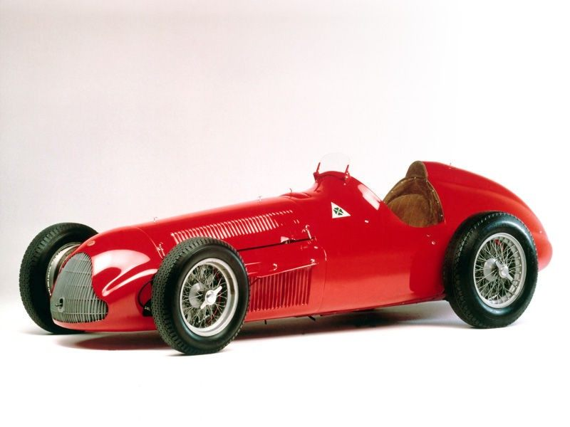 Old Alfa Romeo racer car