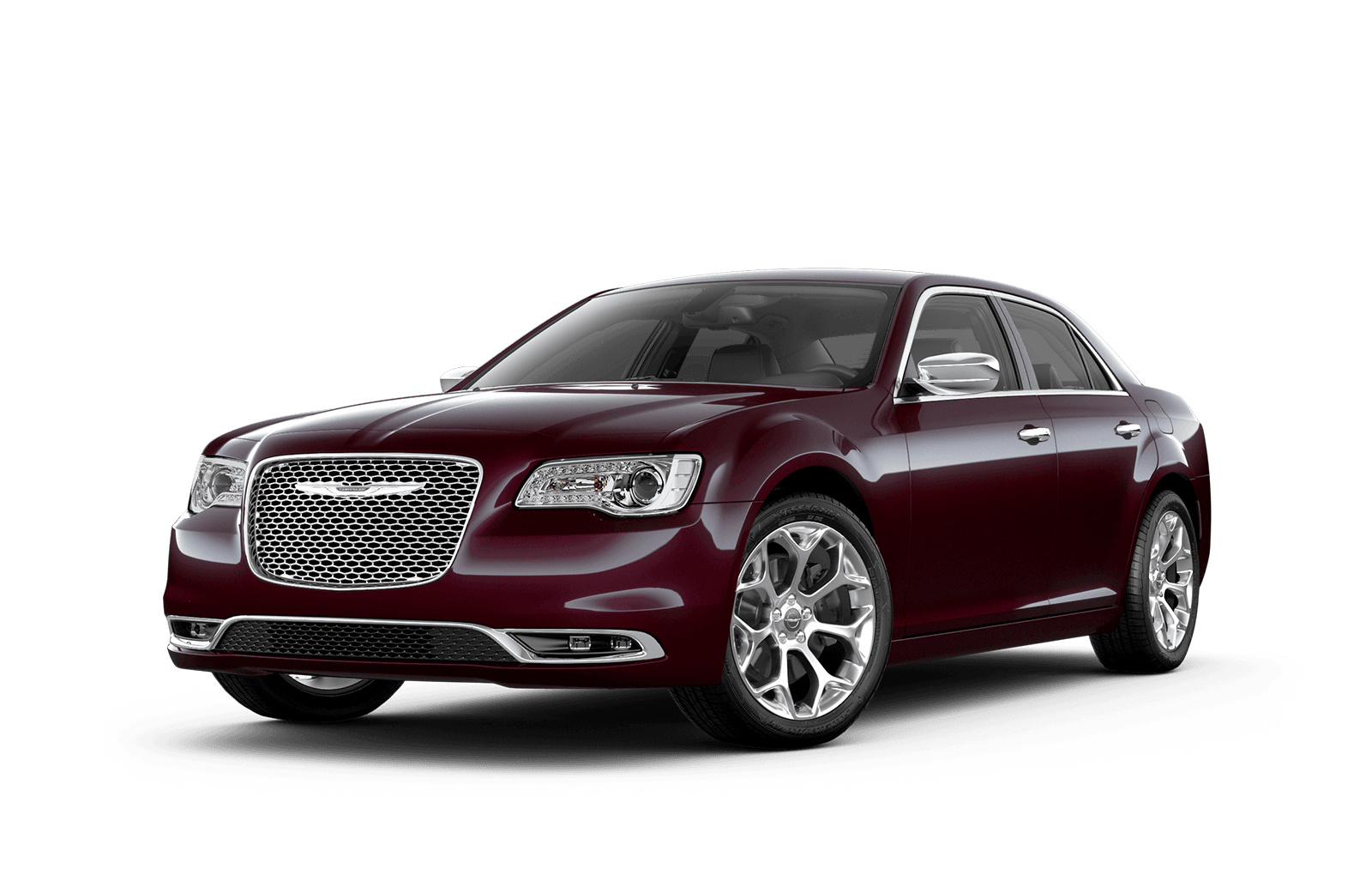 2019 Chrysler 300 Full View in Red with Wheels