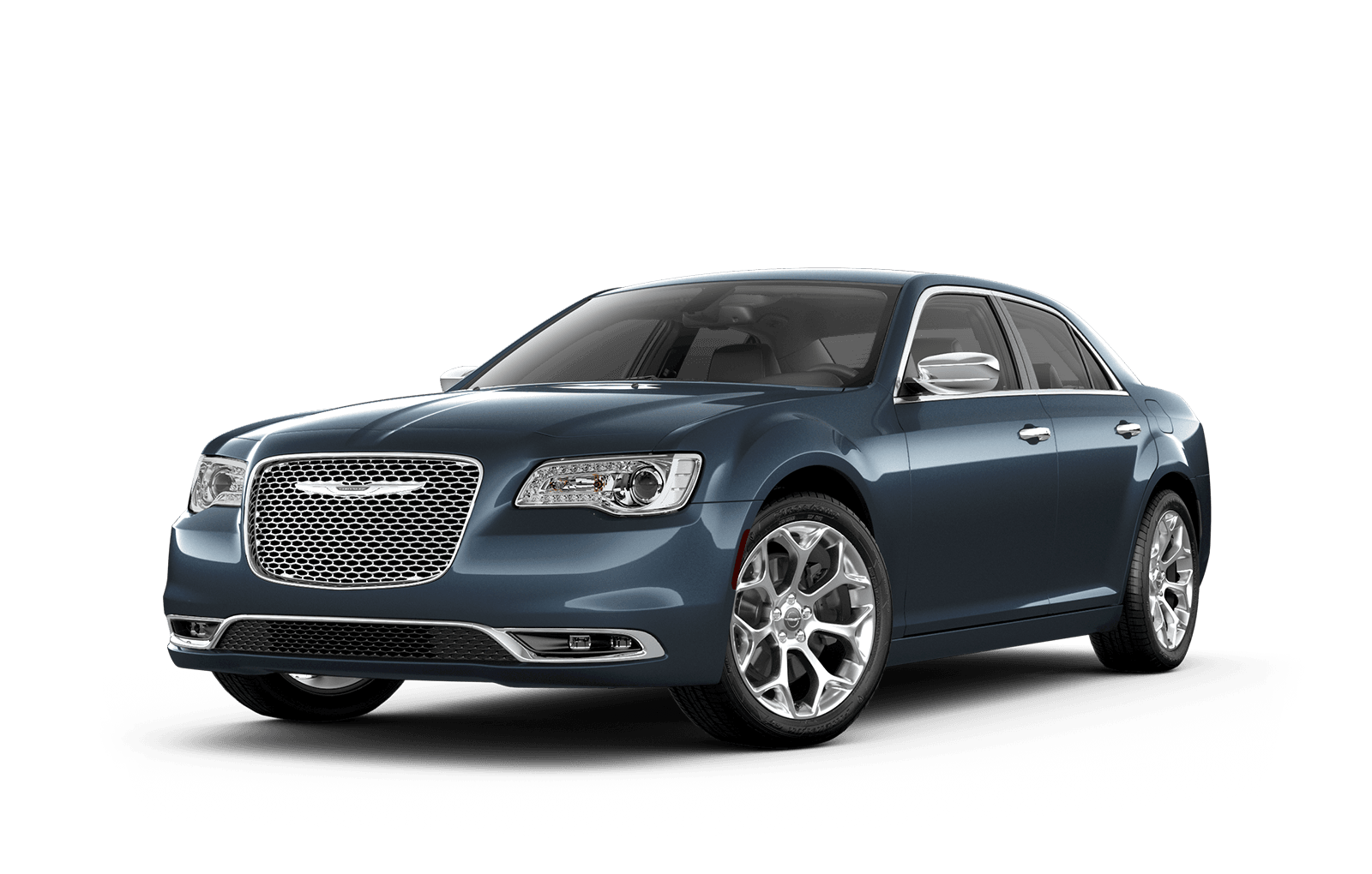 2019 Chrysler 300 Full View in Steel blue with Wheels
