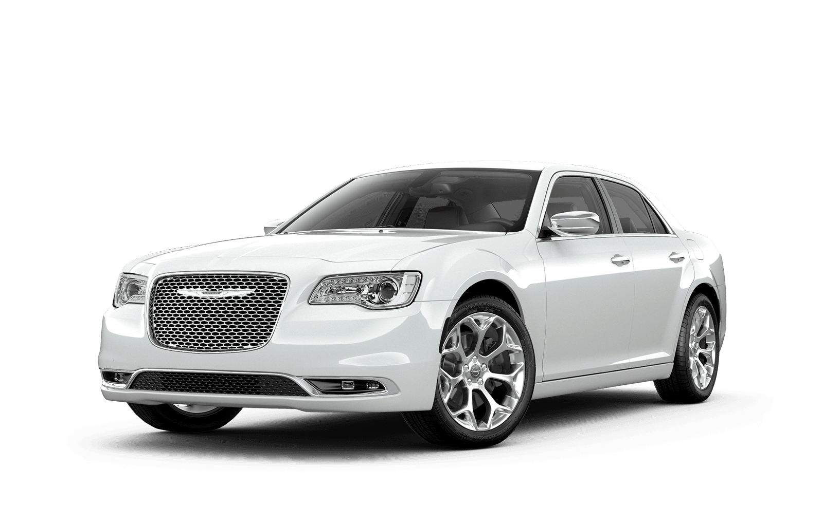 2019 Chrysler 300 Full View in White with Wheels