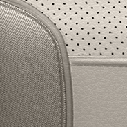 Nappa leather-faced with perforated inserts - Linen