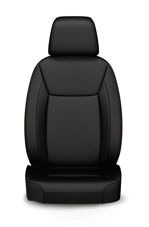 2019 Chrysler 300 Nappa Leather-faced black seats with perforated inserts