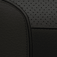 Nappa leather-faced with perforated inserts - Black
