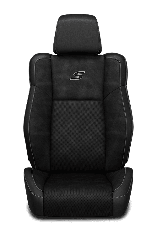 2019 Chrysler 300 Nappa Leather-faced black seats with light diesel accent stitching