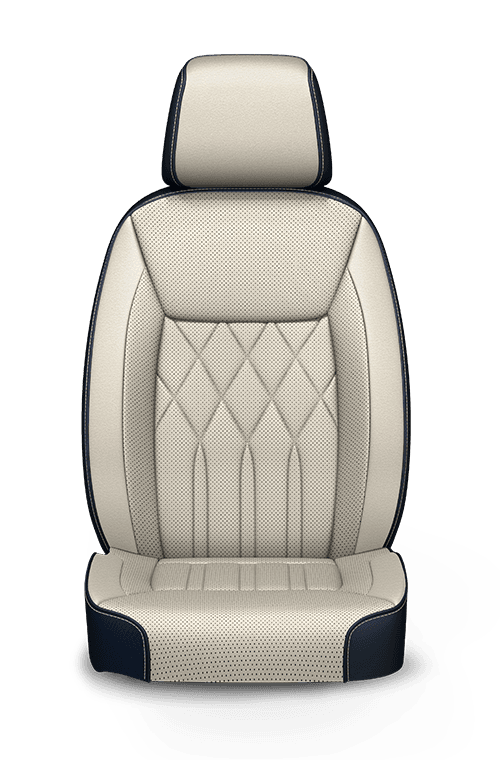 2019 Chrysler 300 quilted Nappa Leather-faced Indigo and Linen seats