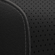 Premium quilted Nappa leather-faced with perforated inserts - Black