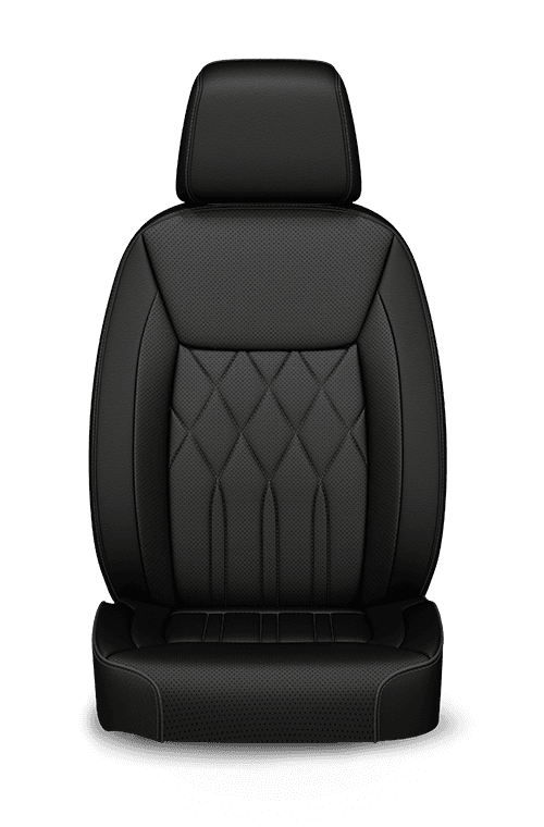 2019 Chrysler 300 quilted Nappa Leather-faced black seats