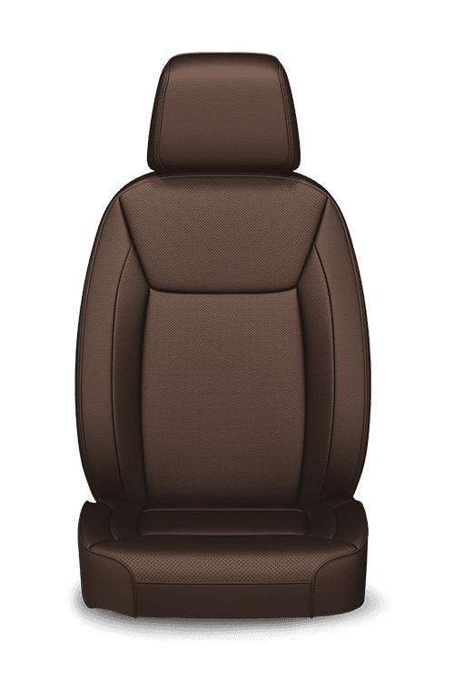 Nappa leather-faced with perforated inserts - Deep Mocha