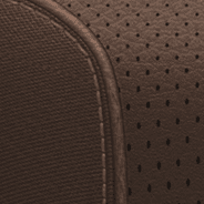 Premium quilted Nappa leather-faced with perforated inserts - Deep Mocha