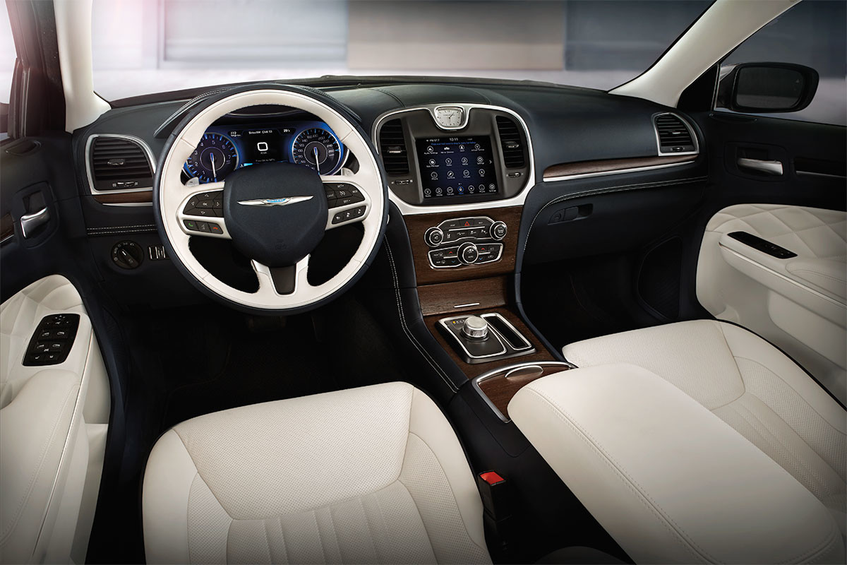 2019 Chrysler 300 with leather interior and wood accents