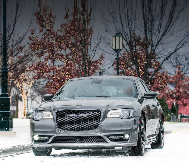 2019 Chrysler 300 with black exterior parked