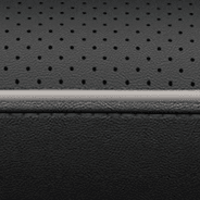 Nappa leather-faced with perforated inserts and ventilated fronts – Black with Diesel Grey accent piping and stitching