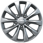 17-inch 10-spoke Tech Silver aluminum