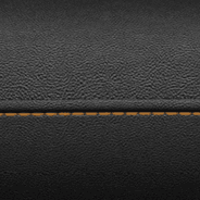 Leather-faced with perforated inserts - Black with Sepia accent stitching