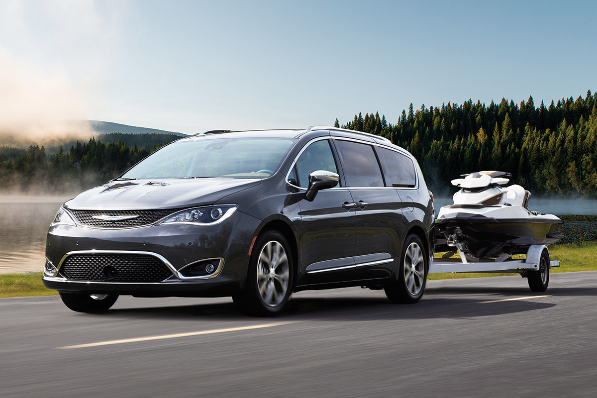 2019 Chrysler Pacifica towing a jet ski