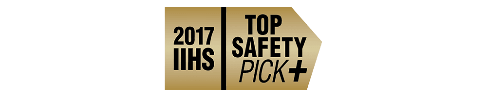 2017 IIHS Top Safety Pick + when equipped with optional front crash prevention and specific headlights