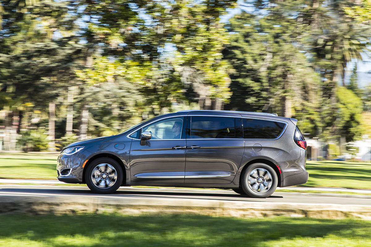 Chrysler Pacifica Hybrid 2018 Exterior Side View. Packed with Safety Features