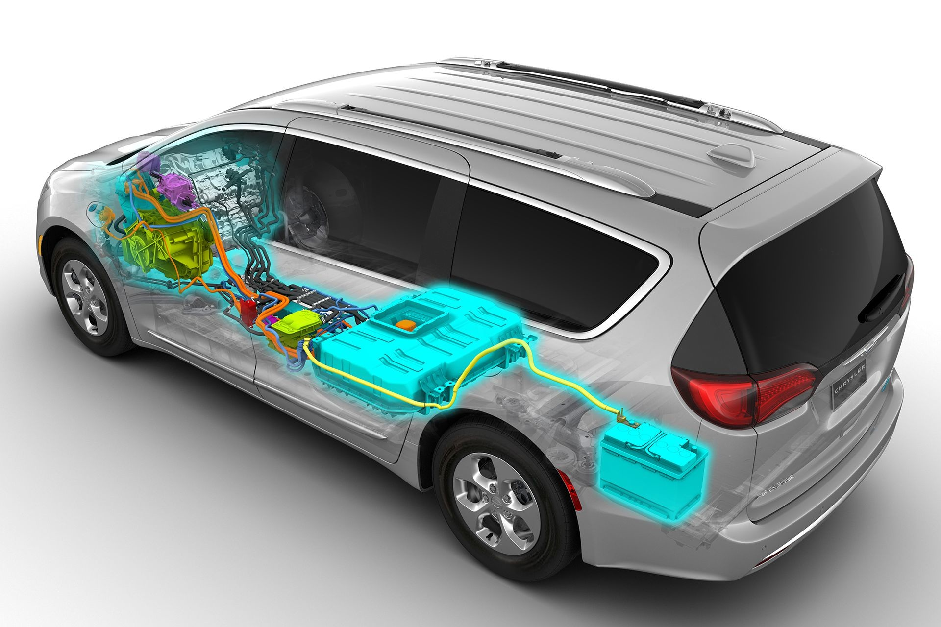 Chrysler Pacifica Hybrid 2018 Exterior Studio Engine Electric Battery
