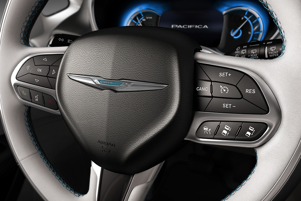 2019 Chrysler Pacifica Hybrid cruise control steering wheel