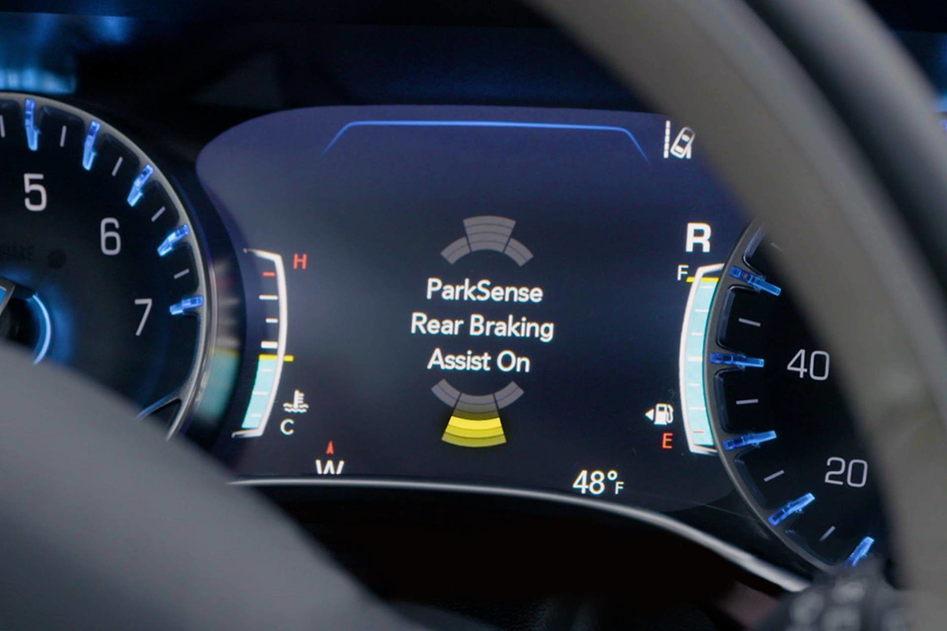 2019 Chrysler Pacifica Hybrid interior Park-Sense Rear Park Assist with Stop display