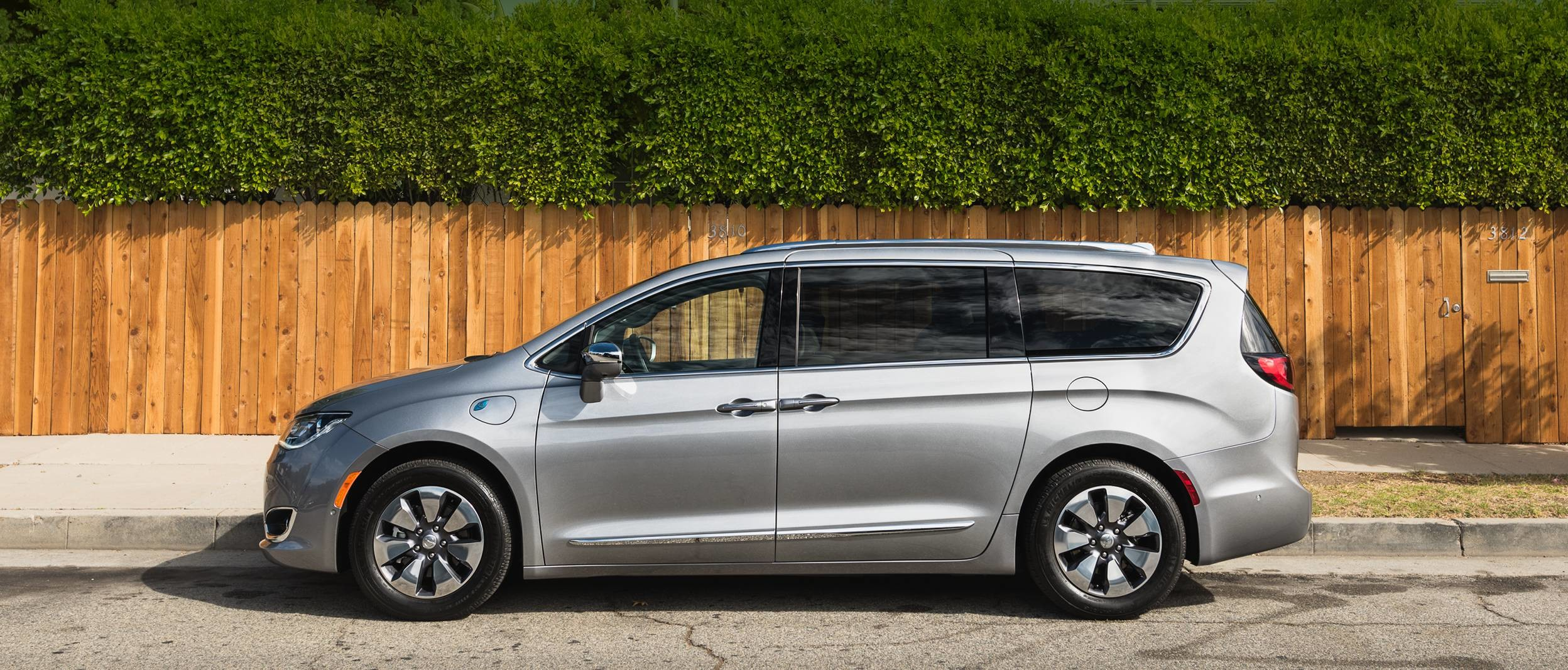 2019 Chrysler Pacifica Hybrid with silver exterior parked