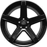 20 x 9.5-inch Low-Gloss Black 5-Deep lightweight forged aluminum