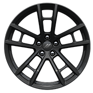 20 x 9.5-inch Low-Gloss Black forged aluminum