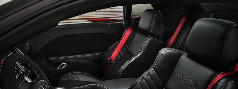 Interior view of the 2020 Dodge Challenger front seats