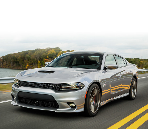 2018 Dodge Charger exterior side view, shown in silver