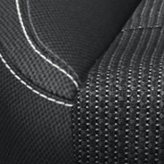 Performance cloth - Black with Houndstooth pattern inserts and Tungsten accent stitching