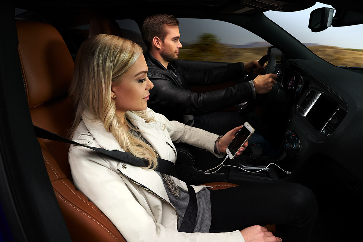 2019 Dodge Charger showing a woman driving