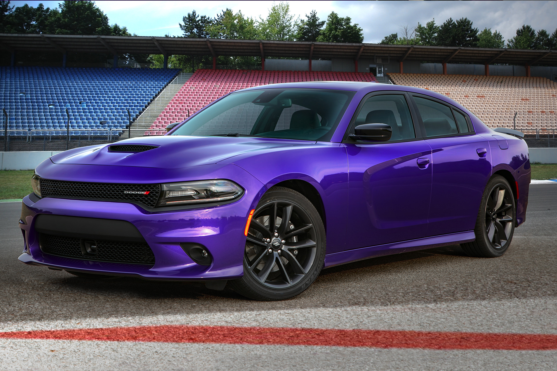 2019 Dodge Charger crazy plum side view