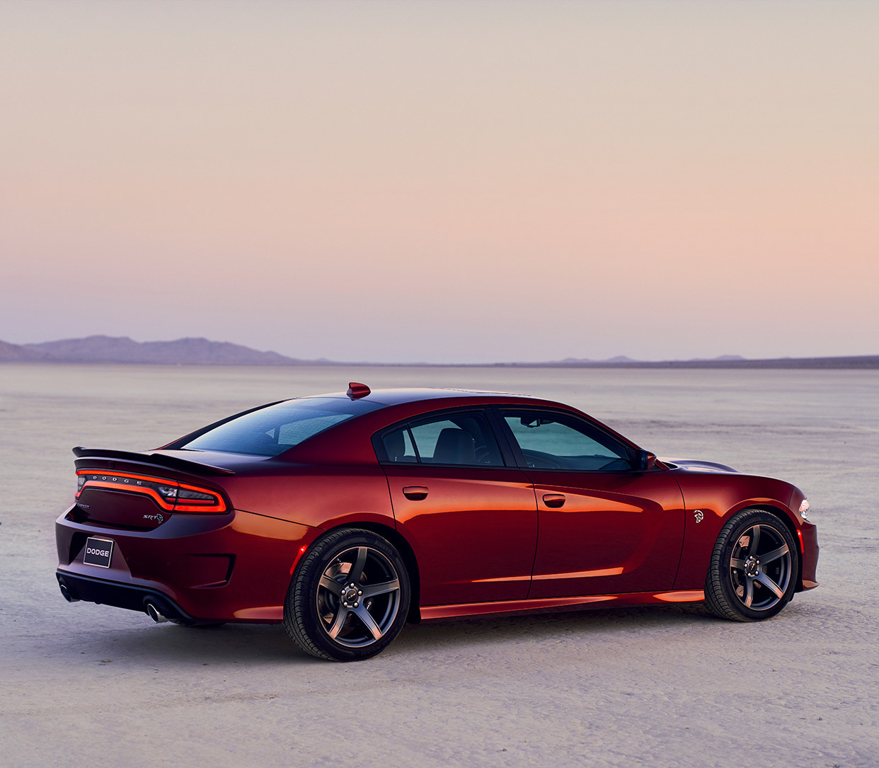 2019 Dodge Charger side view, shown in red