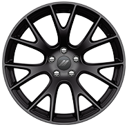 20-inch Low-Gloss Black lightweight forged aluminum