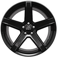 20 by 9.5-inch Low-Gloss Black 5-Deep lightweight forged aluminum