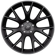 20 by 9.5-inch Low-Gloss Black lightweight forged aluminum