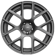 20 by 9-inch Matte Black lightweight forged aluminum