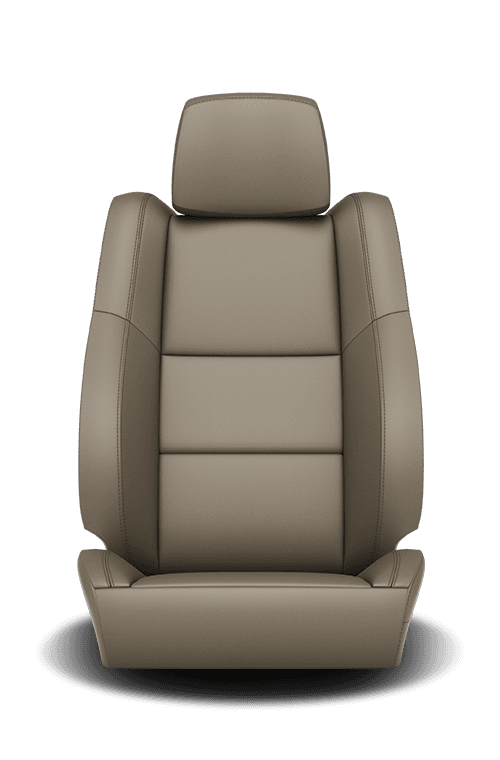 2019 Dodge Durango leather-faced light frost with light frost accent stitching seat