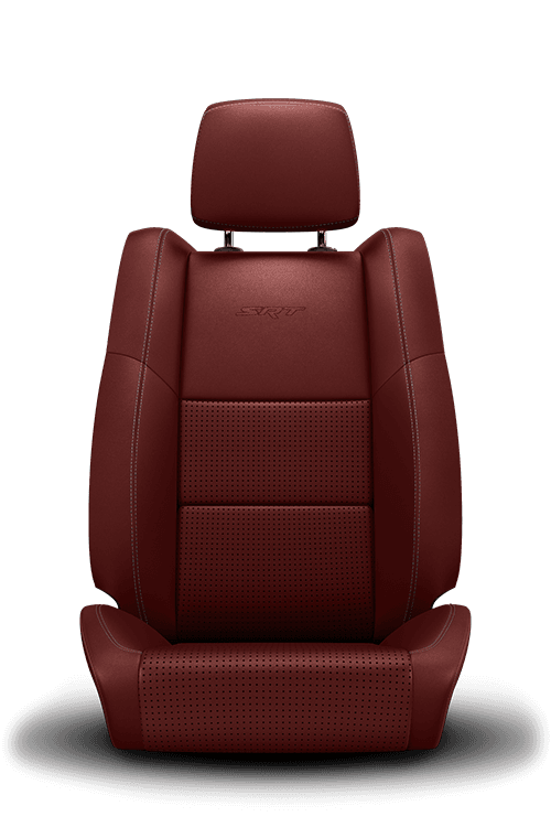 2019 Dodge Durango nappa-leather faced, red swatch2019 Dodge Durango laguna-leather, red with silver stitching seat