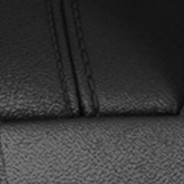2019 Dodge Durango leather-faced black with black accent stitching swatch