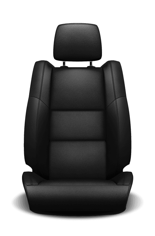 2019 Dodge Durango leather-faced black with black accent stitching seat