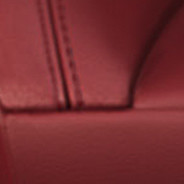 2019 Dodge Durango laguna-leather, red with silver stitching swatch