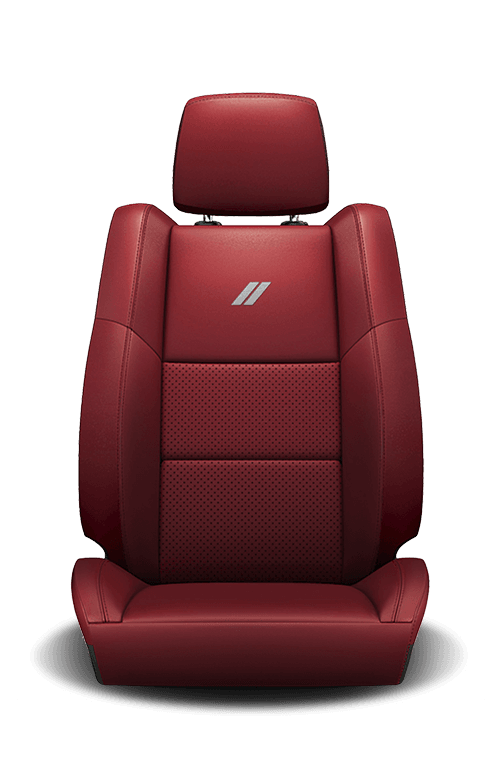 2019 Dodge Durango nappa-leather faced, red seat