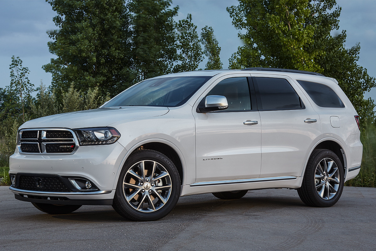 2019 Dodge Durango exterior view, parked, shown in black