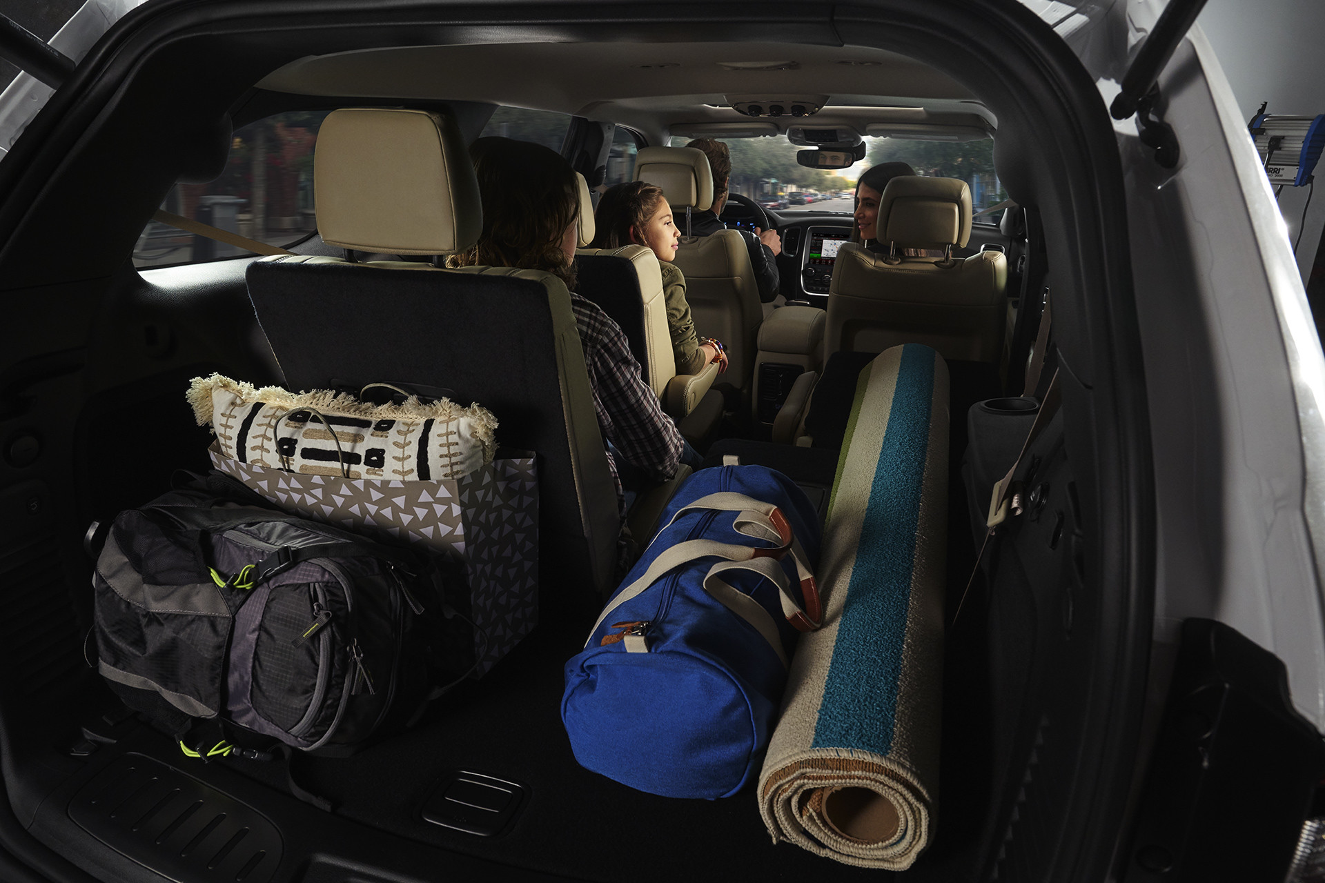 2019 Dodge Durango interior view showing versatile seating and cargo options