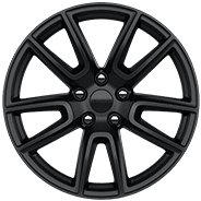 2019 Dodge Durango with 20-inch black multispoke aluminum wheel