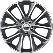 2019 dodge durango 20-inch platinum chrome aluminum wheel