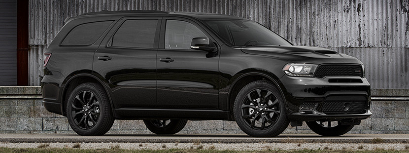 2019 Dodge Durango sideview of exterior in black
